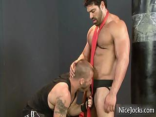 Titanic muscled person gets dick sucked part4