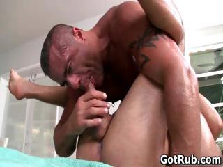 Hot guy get his dazzling body massaged part3