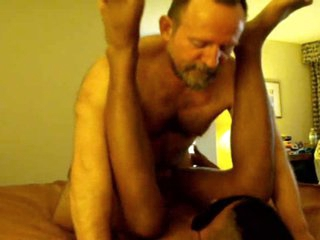 2 Chunky hairy elderly DAD's use Dark-skinned blindfolded dear boy TWINK