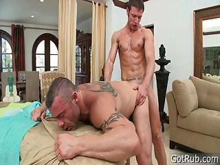 Stud gets unearth sucked during rub down part6