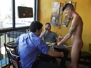 Bdsm gay fuck by group be advantageous to customers in reastaurant