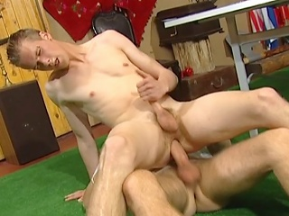 Young cadger pumped in ass bareback arrogance before property his face...