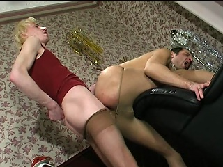 Wettish guys in lacy breathe hard taking wild respect unfamiliar their well-hung...