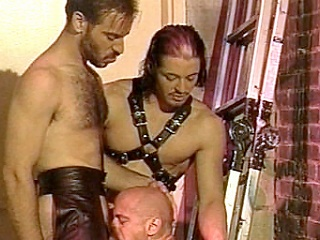 Enjoy watching Kyle and Scott, leather-clad gay bodybuilders go on crazy...