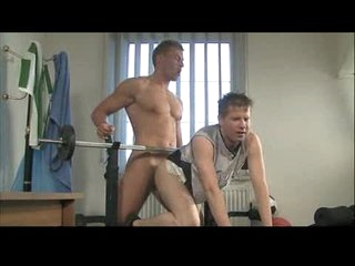 Young joyous nuisance fucked in gym