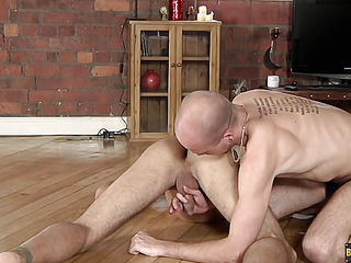 Lucas Davidson gets anally maltreated and pissed in! - Lucas Davidson And Kiron Manful