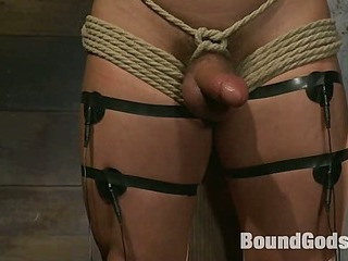 Marc Dylan is bound, destroyed together with fucked of a difficulty first time more than Bound God