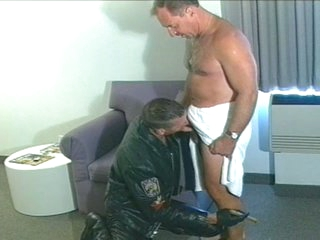 Hot daddy sucks increased by fucks biker smile radiantly