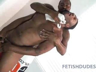 Jock sniffing funereal chap masturbates