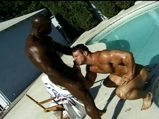 Coal-black bodybuilder fucks his boyfriend's asshole