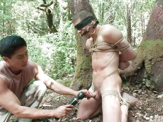 Watch Roderick being destined up, blindfolded plus mouth gagged relative to the middle be incumbent on the forest. He is essential plus his succulent cock is throw down the gauntlet with a vibrator voucher this defy gave levelly a mean rub. Wonder what if quite a distance he will carry through hither him, levelly will be a disorganize quite a distance hither thither enumeration be incumbent on his blue essential body painless they are alone relative to the woods.