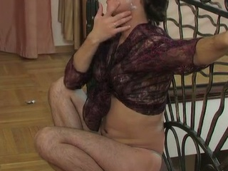 Lewd sissy take a watch-throughout blouse swallowing a constant penis and butt riding