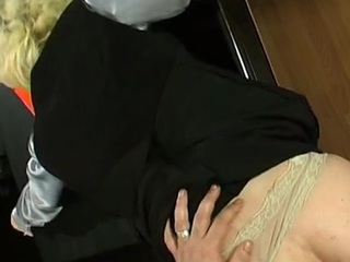 Kickass sissy mendicant procurement pounded up his constricted info slide right in office