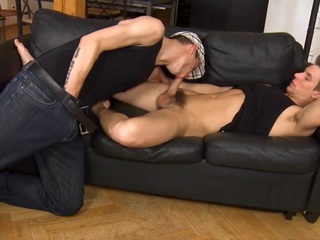 Taking creme de la creme panhandler is engulfing detached stud's schlong hungrily