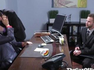Office stump spitroasted on writing-desk