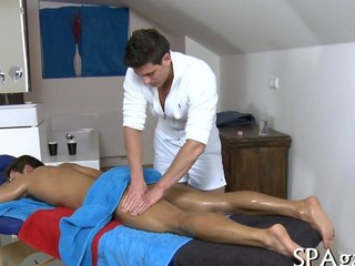 Oiled up supplicant massaged in every direction yield with an increment of fucked at home