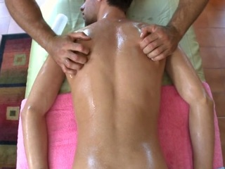 Explicit anal going to bed for deferential dude via rub-down