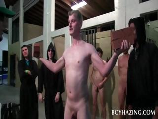 Naked unconcerned fresher asshole toyed