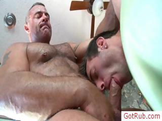 Extreme gay asshole scraping 2