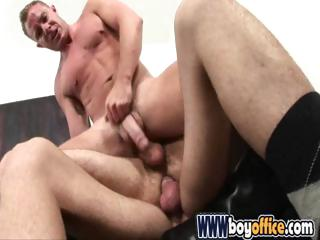 Office studs skewering their gay hang out with with their large cocks