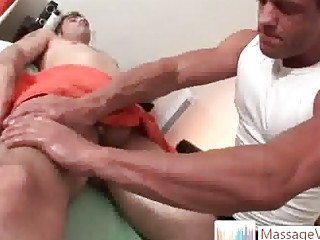 Tattooed deny stuff up Jason Quorum gets massaged