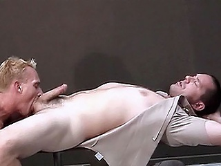 Two operose looking cops beat up it off in a bay section anal pleasuring....