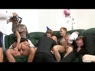 Huge party with tons of androgyne fucking