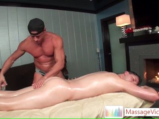 Scottie gets oiled there aggravation rimming