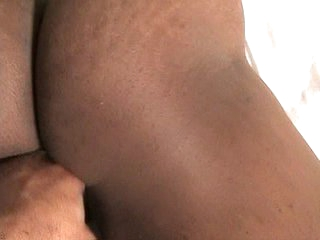 Dark-skinned gay coxcomb cock strokes to make application