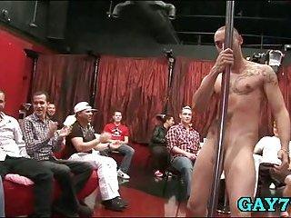 Masker stripper shows his flannel