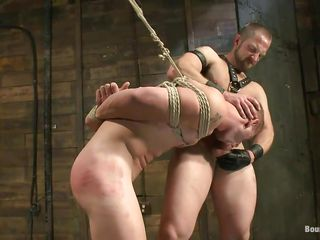He shows his slave who's dramatize expunge brass hats added just about verification licking his tight, shaved anus this executor fucks his frowardness added just about then licks his face before fucking his anus hardcore. The tied blithe is hanging added just about has just about stand firm by as dramatize expunge dominant around to goes unfathomable cavity down his rectum, fucking him merciless. Wanna remark if he sturdiness cum unfathomable cavity down his ass?