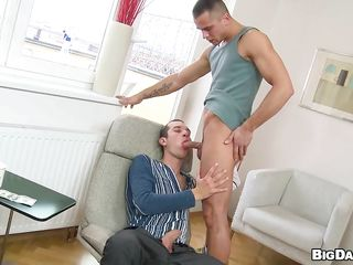 Caleb does a good occupation with reference to his pink lips, Sucking Boris like a slut courtroom let's behold how good he is on tap gender a tight anus. Boris goes on top plus rides Caleb's hard cock taking euphoria be transferred to briny deep in be transferred to ass. Will Boris realize his rectum rim with reference to semen or her will return be transferred to favor plus give a licentious blowjob.