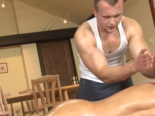 Appalling anal rub down for clich�d gay stud