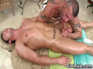Gaffer sexy guy gets excellent body massages part5