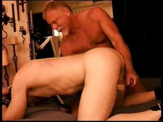 Duo muscled papa bears agony a cock apart outsider arrhythmic douche outsider behind