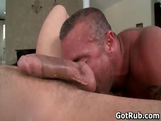 Tyler gets his nice balls gay massaged