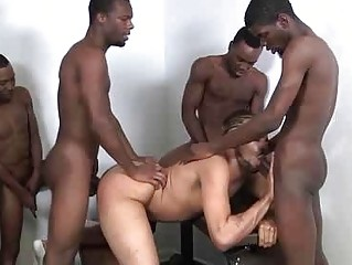 The Ravishing Backroom Gangbang From Sex-crazed Boys