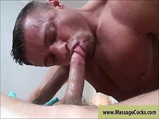 Blowing muscule cock