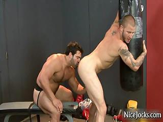 Hot jock gets assfucked at gym at the end of one's tether nicejocks