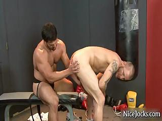Hot athlete gets assfucked at gym part1