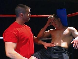 Prizefighting jocks get nasty alongside someone's skin ring vanguard blowing loads surpassing till the end of time other...