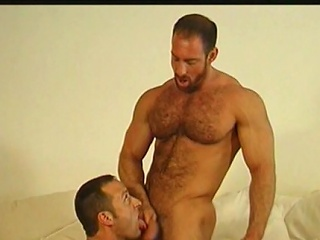 Featuring this mature hairy daddy in one awesome bareback scene,...