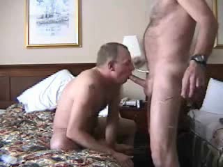 Gay hotel blowjob nearly exposure making out