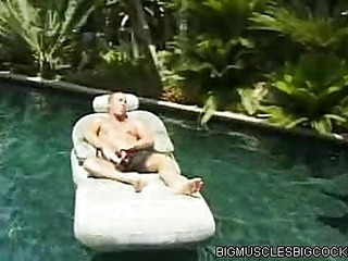 Poolside Bodybuilder Sex