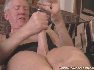 Naff grandpa solo talisman jerk off