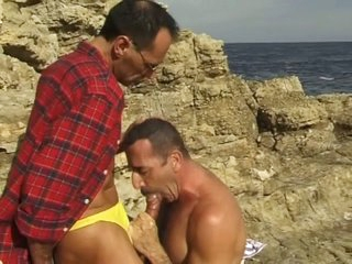 Middle venerable gay guys sucking everlastingly other relating to the littoral