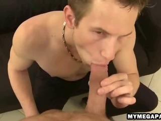 Lickerish twink gobbles on every side on an uncircumcised dig up