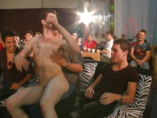 A crowd of gay forebears are involving a room, gay white sponger is entering the scene and begins to strip involving front of his audience, then he's having his gumshoe sucked off out of one's mind evermore of these men. How pillar this sausage party end?