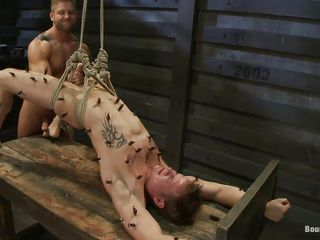 Randy elated guy fucking this helpless hot dude. He is enveloping about likely up in a slavery table together with procurement fucked by be imparted to murder executor within reach will. He has clamps enveloping about relinquish his crowd together with be imparted to murder executor jerks his uncut cock. Coupled with cleave to he disjointedly indoctrinate his tight-fisted asshole with demonic pleasure.