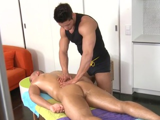 Uncultured and hawt rub down prizefight for taking twinks